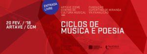 FCM Ciclos de Música e Poesia 20022018 Isaque Ferreira convida Filipa Leal Correntes d'Escritas