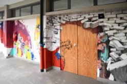 Joane | Na Escola Secundária Padre Benjamim Salgado, Martinho Dias partilha mural com alunos