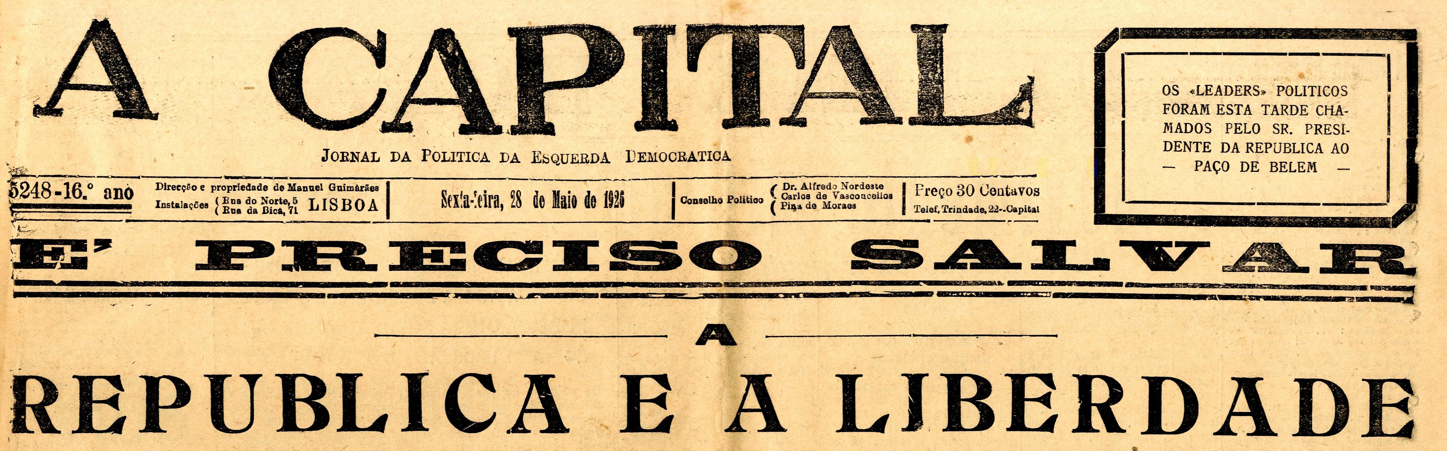 VN Online | Amadeu Gonçalves - A Revolução Santificada. O 28 de Maio de 1926 em V. N. de Famalicão