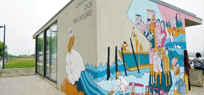 Arte Comunitária | AMAReMAR inaugura novo mural ilustrado junto à lota