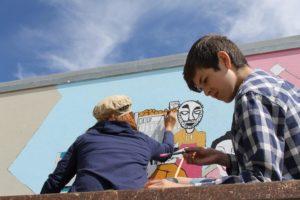 VN ONLINE ||| Arte Comunitária | AMAReMAR inaugura novo mural ilustrado junto à lota