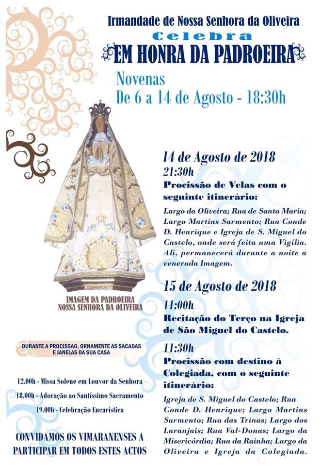 vnonloine | irmandade da nossa senhora da oliveira . programa 2018