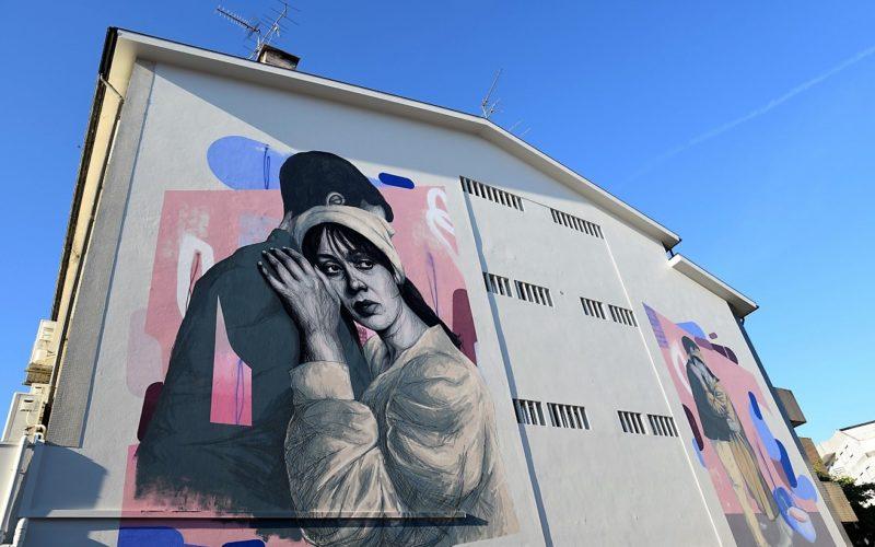 Camilo | Maria Moisés, a obra de Camilo, é motivo de novo mural de arte urbana em Famalicão por Frederico Draw