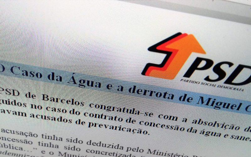 Caso da Água | José Novais / PSD Barcelos: Absolvição de Fernando Reis é derrota de Miguel Costa Gomes e do PS