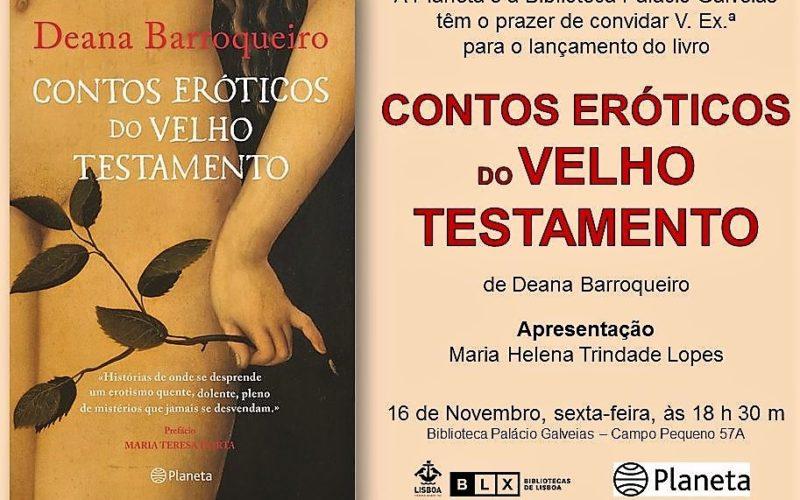 Livros   'Novos' Contos Eróticos do Velho Testamento, de Deana Barroqueiro, relançado pela editora Planeta