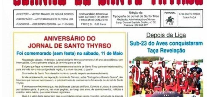 Imprensa   Jornal de Santo Thyrso suspende atividade
