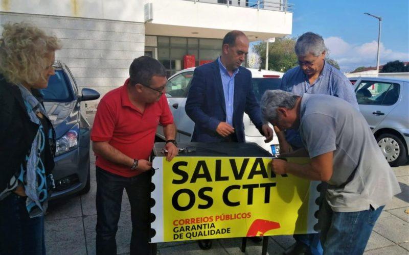 Legislativas | Bloco de Esquerda defende nas ruas de Viana do Castelo renacionalização dos CTT