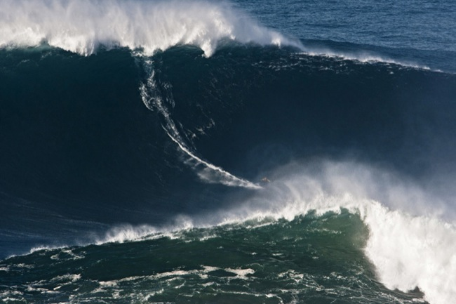 Texto 1 imagem -GMac a surfar uma onda gigante no canhão norte. Créditos da imagem - POLVO Jorge Leal and Wilson Ribeiro