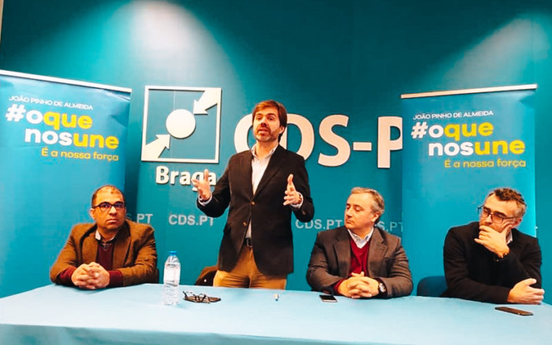 """CDS-PP   João de Almeida apresenta em Braga """"Valorizar aquilo que nos une e defender as causas do partido"""""""