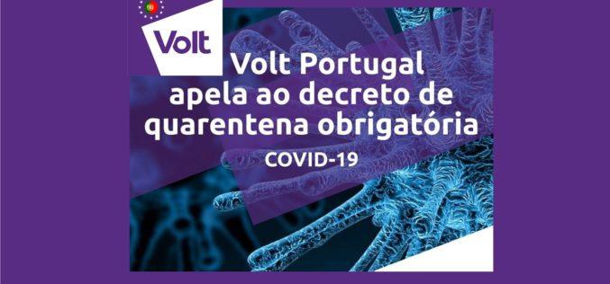 Coronavírus   Volt Portugal exige quarentena obrigatória
