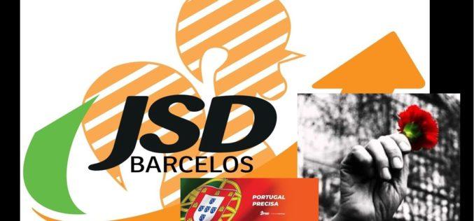 Abril | JSD de Barcelos estupefacta com decisão do Parlamento em relação às comemorações do Dia da Liberdade