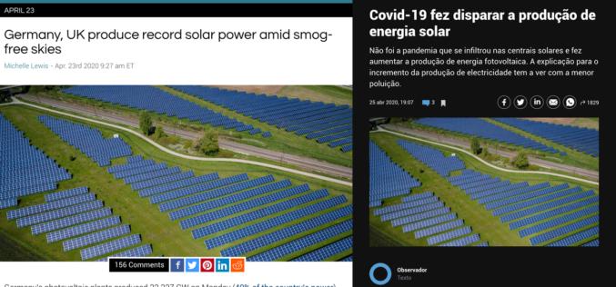Ambiente | Covid-19, Poluição Atmosférica e Energia Solar