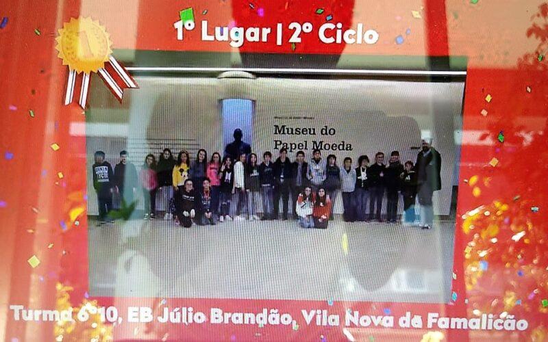 Ensino   Turma 10 do 6º ano da Júlio Brandão brilha no concurso 'No Poupar Está o Ganho'