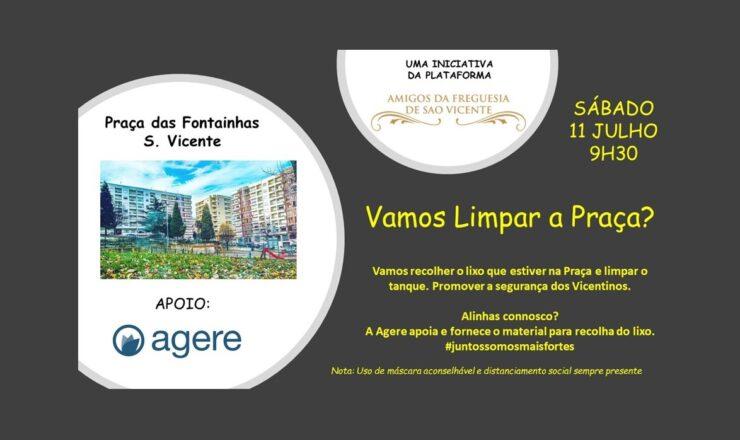 Amigos S Vicente - Vamos limpar a Praça das Fontainhas Braga 00