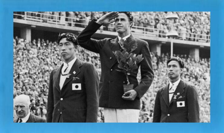 entrega de medalhas salto à vara jogos olímpicos 1936 Tokyo2020 b