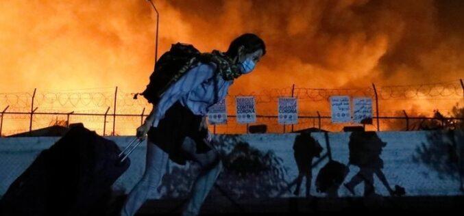Refugiados   Humans Without Borders responde com 'Evacuar Moria Já' à destruição do campo de abrigo grego