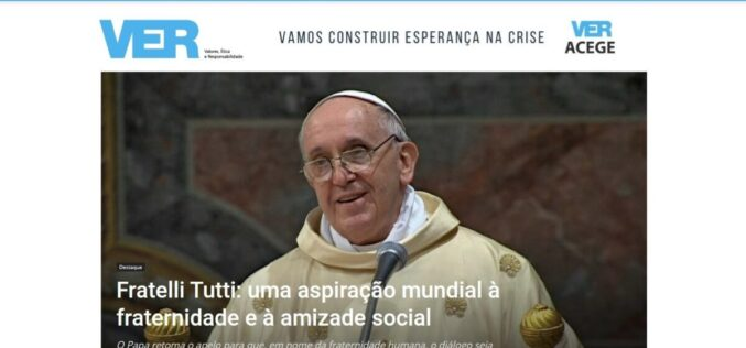Religião | 'Fratelli Tutti': aspiração à fraternidade e amizade social