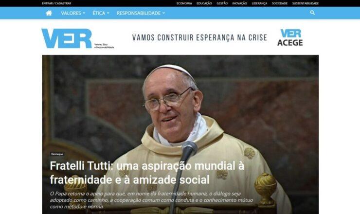 Papa Encíclica Frettelli Tutti em VER