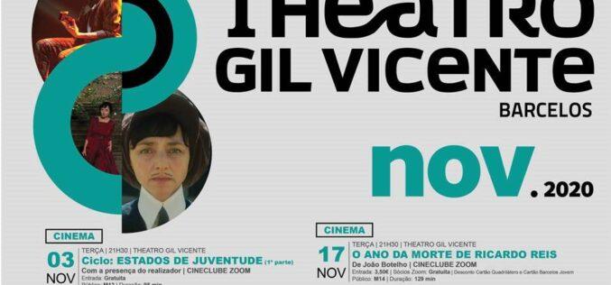 Gil Vicente | Cinema, música, teatro: programação cultural de Barcelos em novembro de 2020