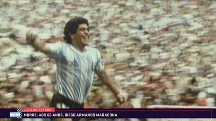 maradona 9051389_x240 em globo esporte morte homenagem pesar