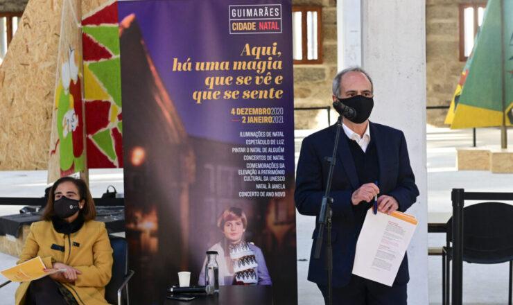 conferência imprensa Guimaraes Cidade Natal 2020 - Centro Histórico de Guimarães - com Domingos Bragança e Adelina Paula Pinto